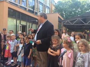 Alan Melchior med Carolineskolens børnekor Jødisk Kulturfestival 2016