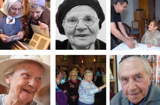 Claims collage med seniorer