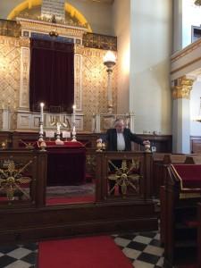 Fra synagogen - Bent Melchior taler i synagogen