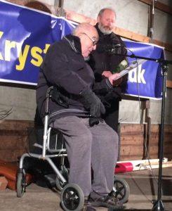 Hans Goldstein holder tale på Krystalnatten 2016