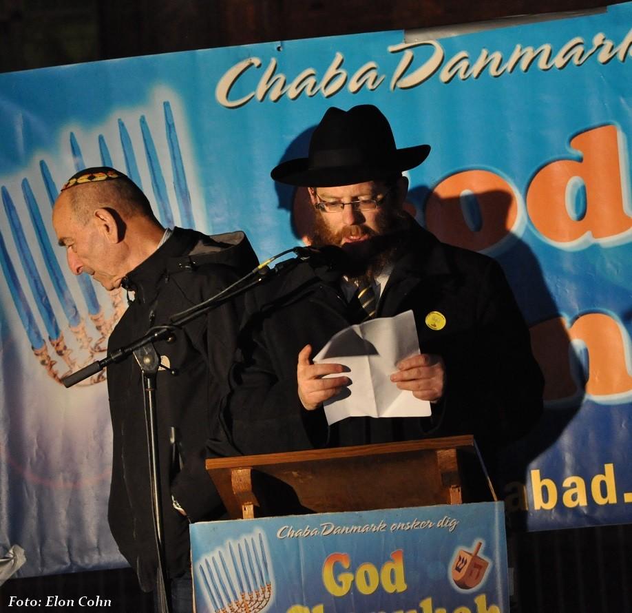 Rabbiner Loewenthal fra Chadanmark indleder festlighederne
