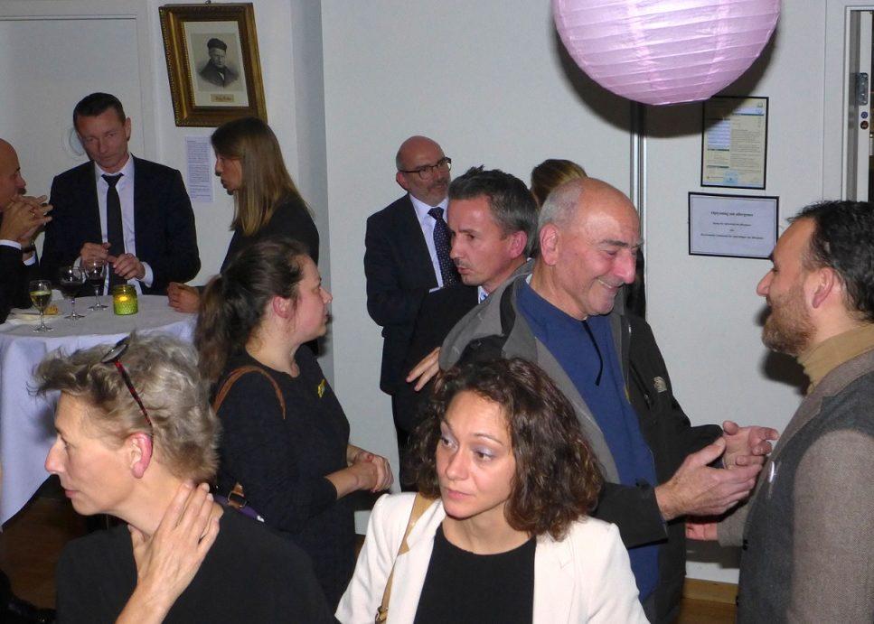Gæster til nytårskur i Det Jødiske Hus