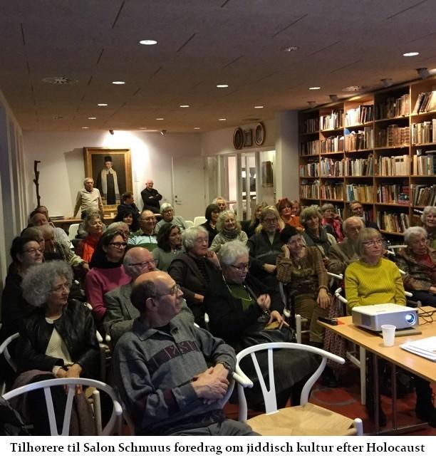 Tilhørere under foredrag med Jan Schwarz om jiddisch kultur efter Holocaust
