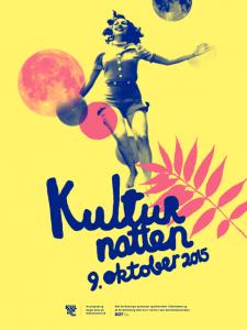 Plakat Kulturnatten 9. oktober 2015
