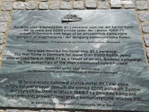 Den polske mindesten på Kalvebod Brygge