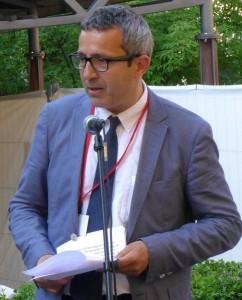 Dan Rosenberg Asmussen taler ved åbningen