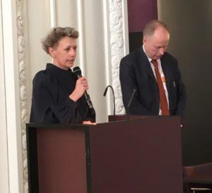 Eva Bøggild takker for Finn Nørgaard prisen