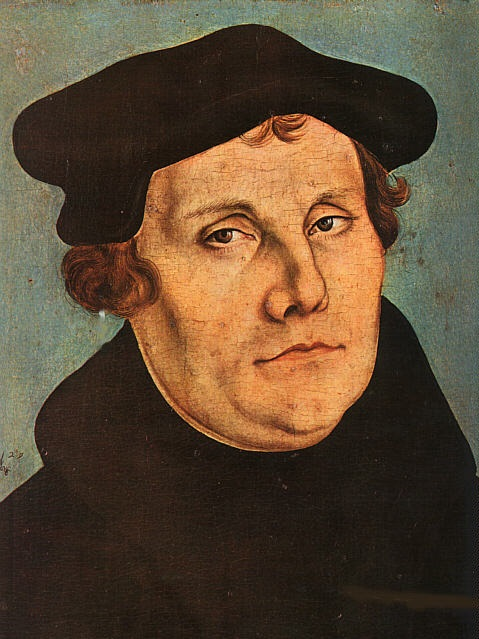 Martin Luther portæt af Lucas Cranach